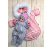 Зимний комплект Космонавт+Mini (розовый)