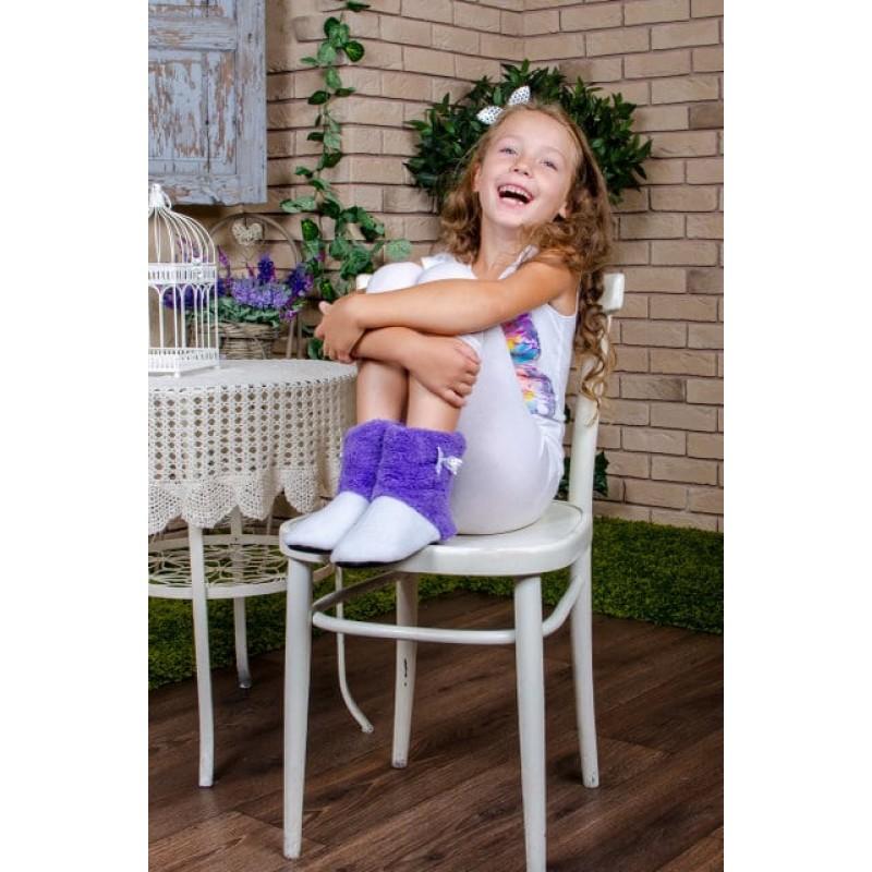 фото детские комнатные тапочки для девочки сирень