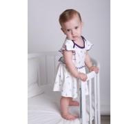 Боди - платье Единороги молоко