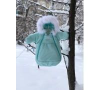 Зимний комбинезон-мешок ментол