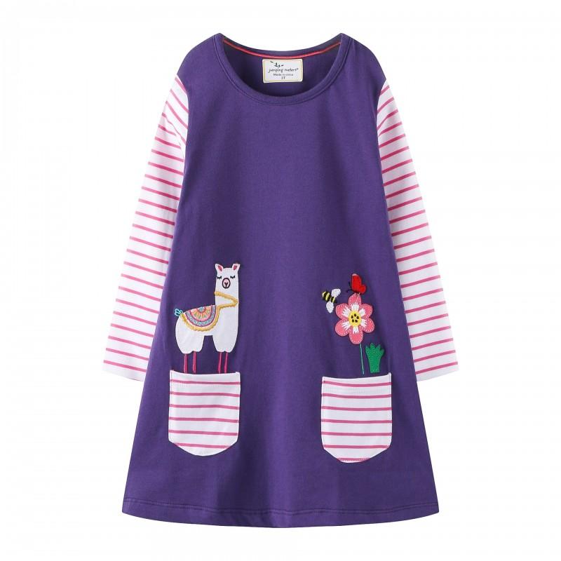 Платье для девочки Лама