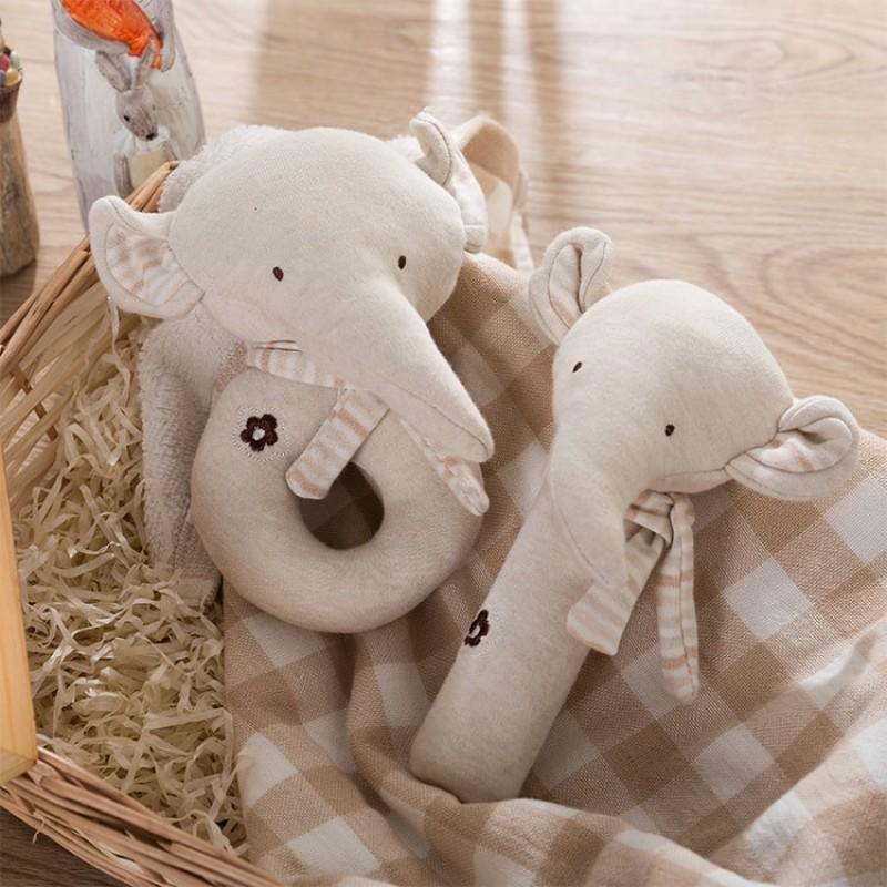 Набор мягких игрушек - погремушек Слонята