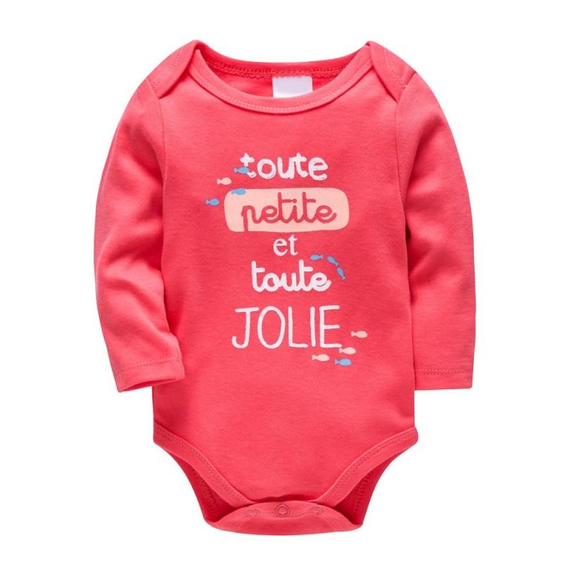 Боди для девочки Джоли, коралловый