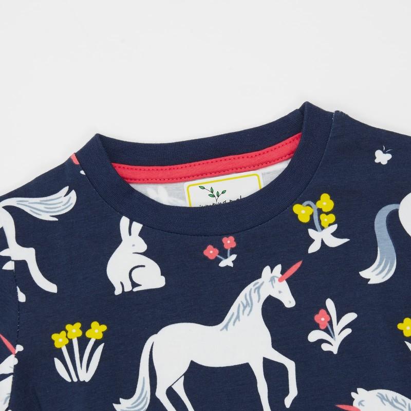 Платье для девочки Единорог и зайчик