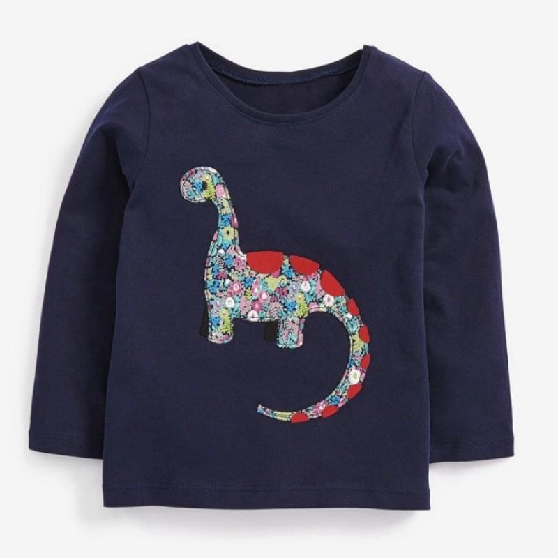 Лонгслив для девочки Flower dinosaur