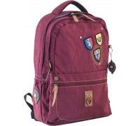 Рюкзак подростковый бордовый 28.5 * 44.5 * 13.5