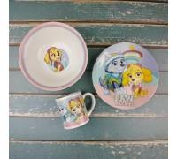 Набор детской посуды Disney paw patrol