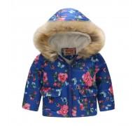 Демисезонная куртка для девочки Бутоны алых роз