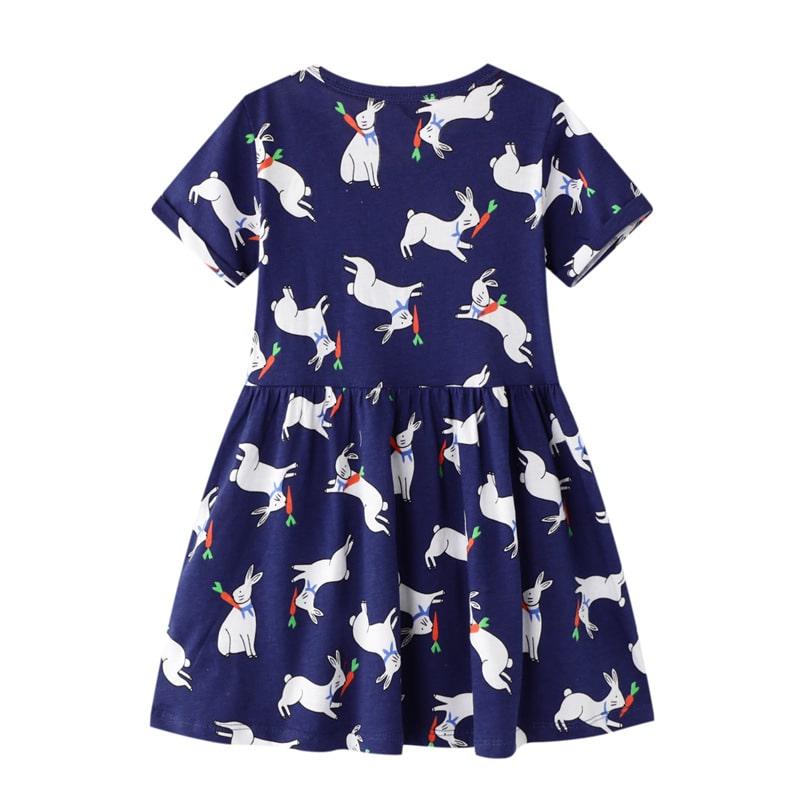 Платье для девочки Зайчишка с морковкой