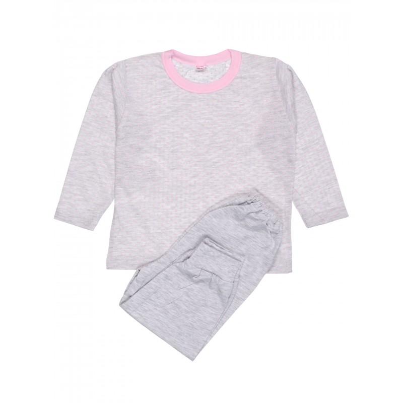 фото пижама детская серая меланж
