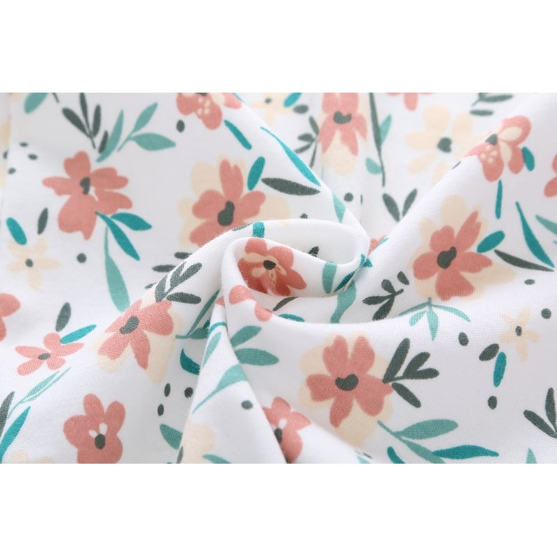 Боди для девочки цветы короткий рукав