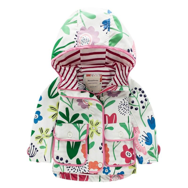 Куртка для девочки Цветы