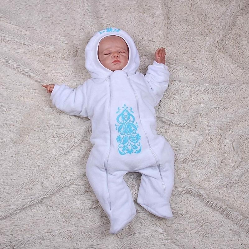 Зимний конверт и кобинезон новорожденному