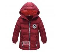 Куртка удлиненная демисезонная для девочки бордовый