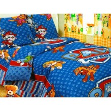 Комплект детское постельное белье полуторка PAW PATROL Тиротекс