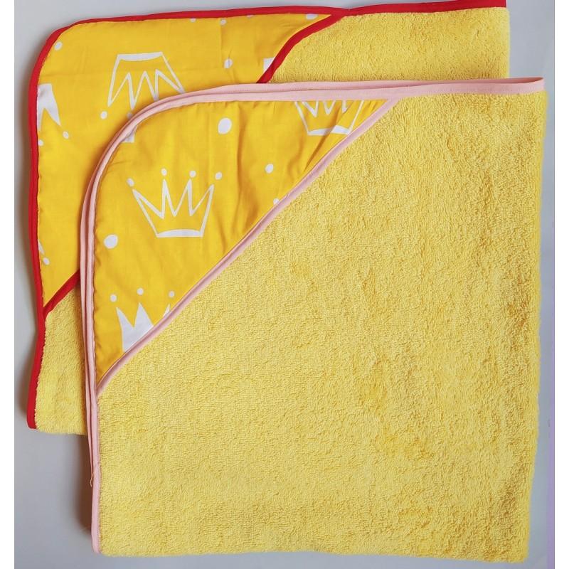 фото полотенце уголок для купания Желтая корона