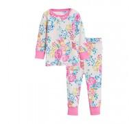 Пижама для девочки Бабочка и цветы