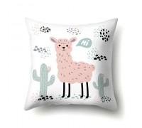 Наволочка декоративная Pink llama 45 х 45 см