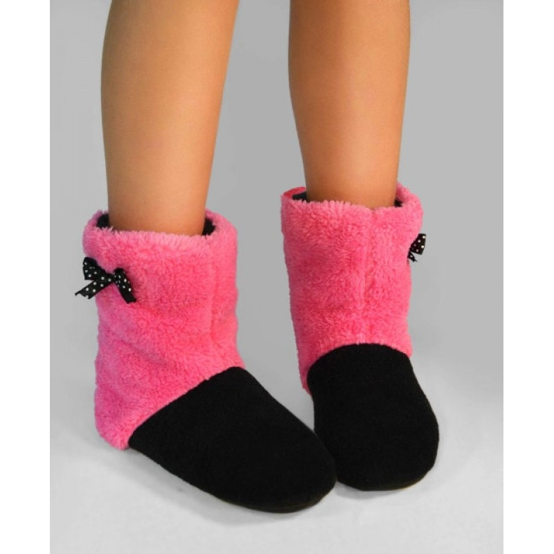фото детские комнатные тапочки для девочки розовые