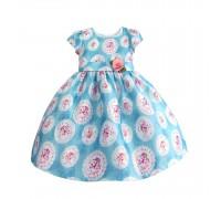 Платье для девочки Розы, голубой