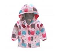 Куртка-ветровка для девочки Зверушки