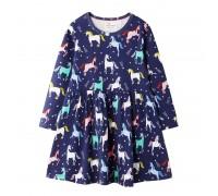 Платье для девочки Радужные единороги