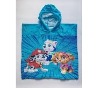 Полотенце-пончо Paw Patrol голубое Disney