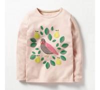 Лонгслив для девочки Птичка