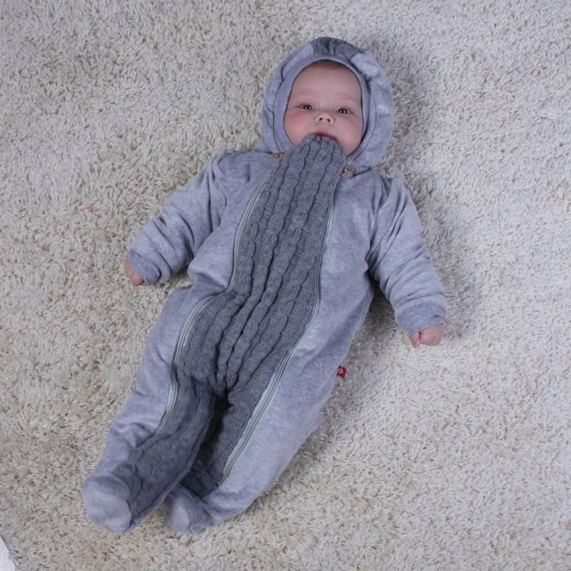 фото демисезонный комбинезон серый