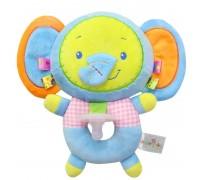 Мягкая игрушка-соска Голубой слонёнок