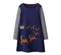 Платье для девочки Сани Санта Клауса