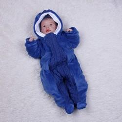 фото демисезонный комбинезон синий