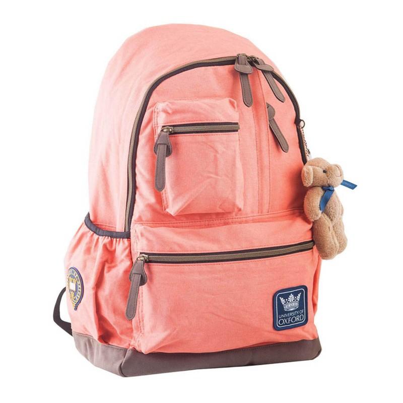 Рюкзак подростковый персиковый