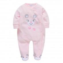 Человечек для девочки велюровый Розовый мышонок
