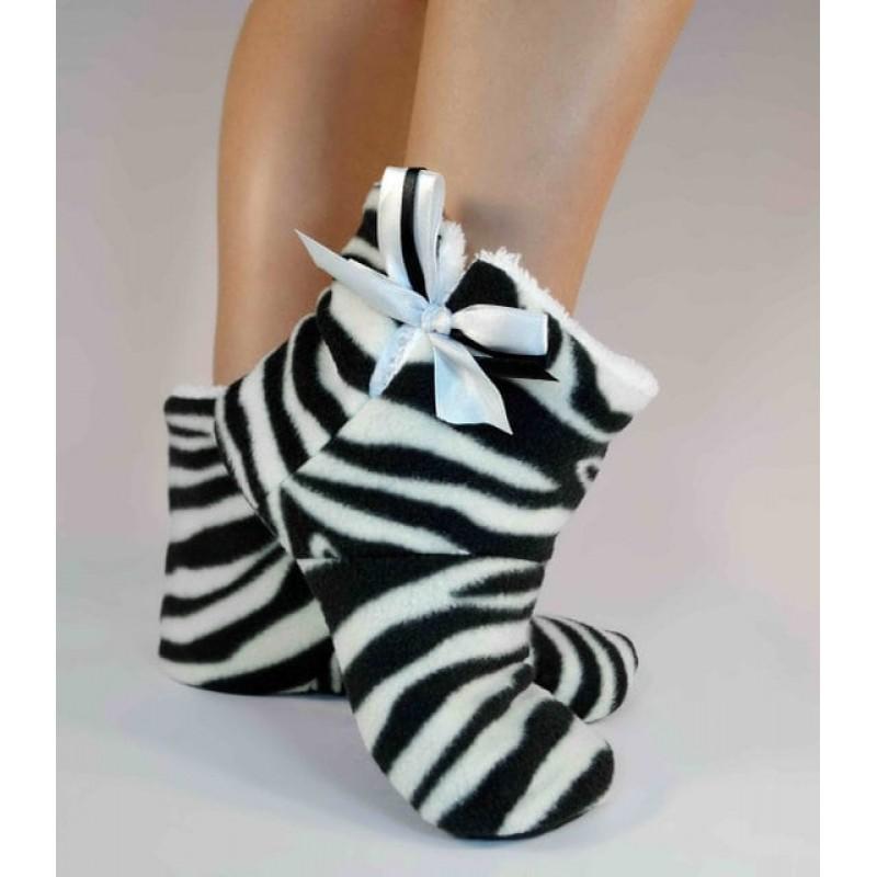 фото тапочки домашние угги Zebra