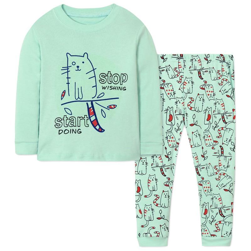 Пижама для девочки Кот