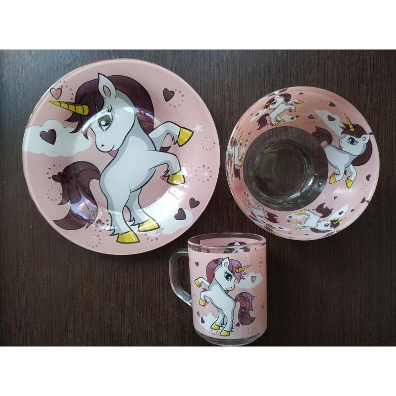 картинка Набор детской посуды UNICORNS