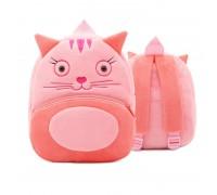 Рюкзак велюровый Кошка