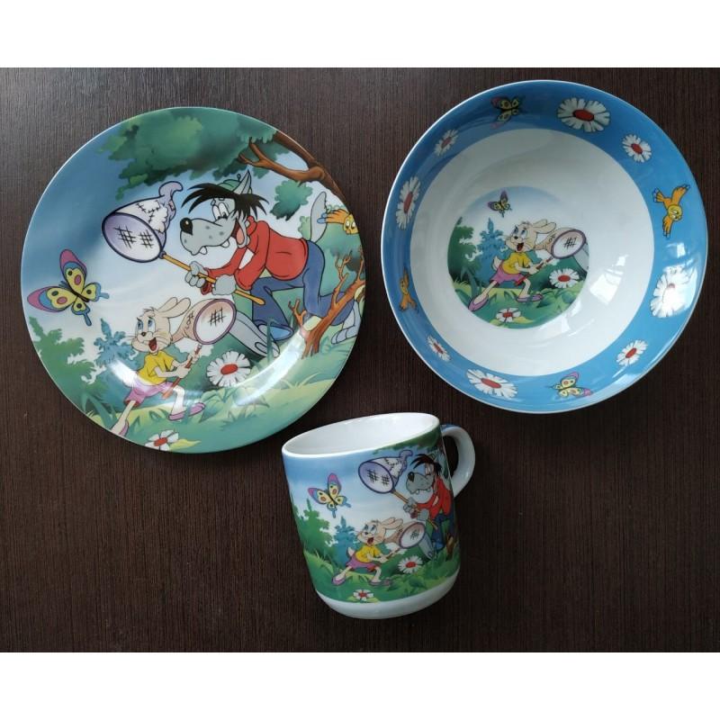 картинка Набор детской посуды Ну-погоди