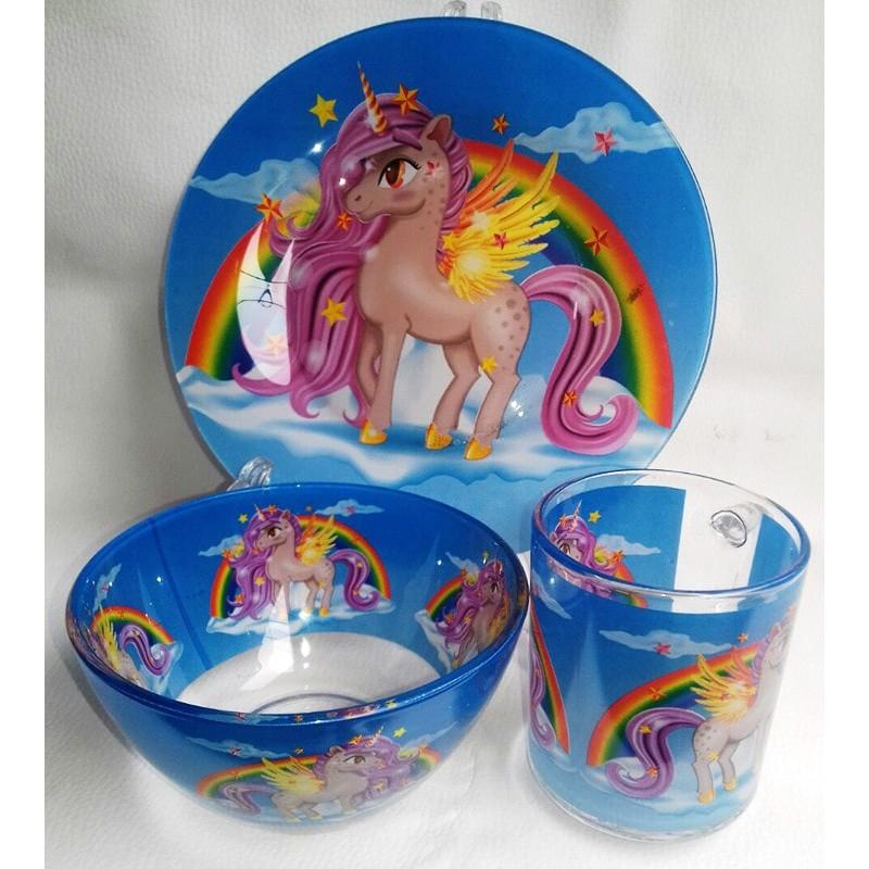 фото набор детской посуды PEGAS