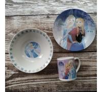 Набор детской посуды Disney Frozen 3 предмета