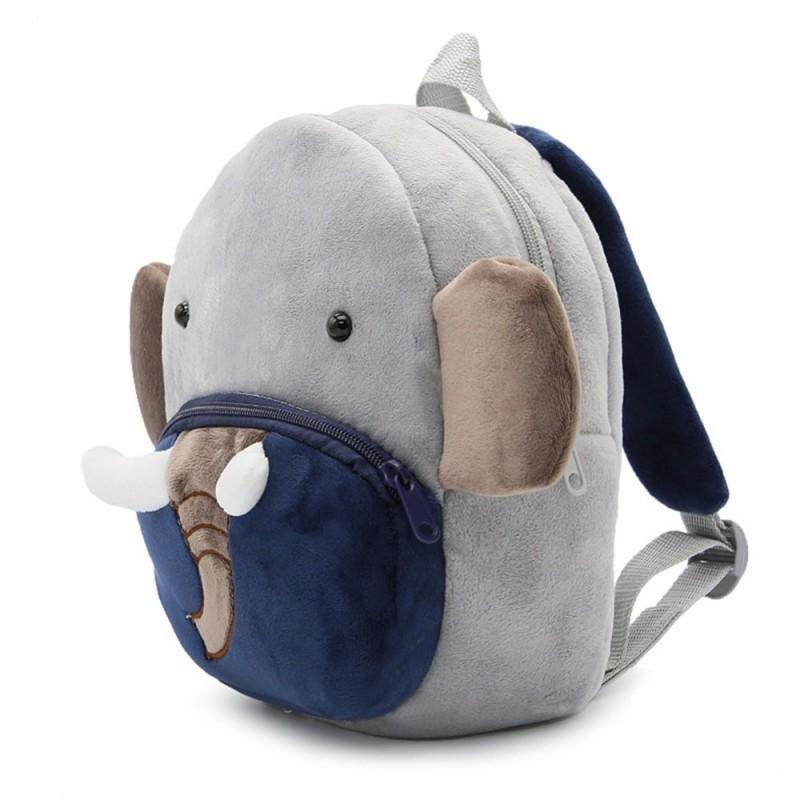 Рюкзак велюровый Слон