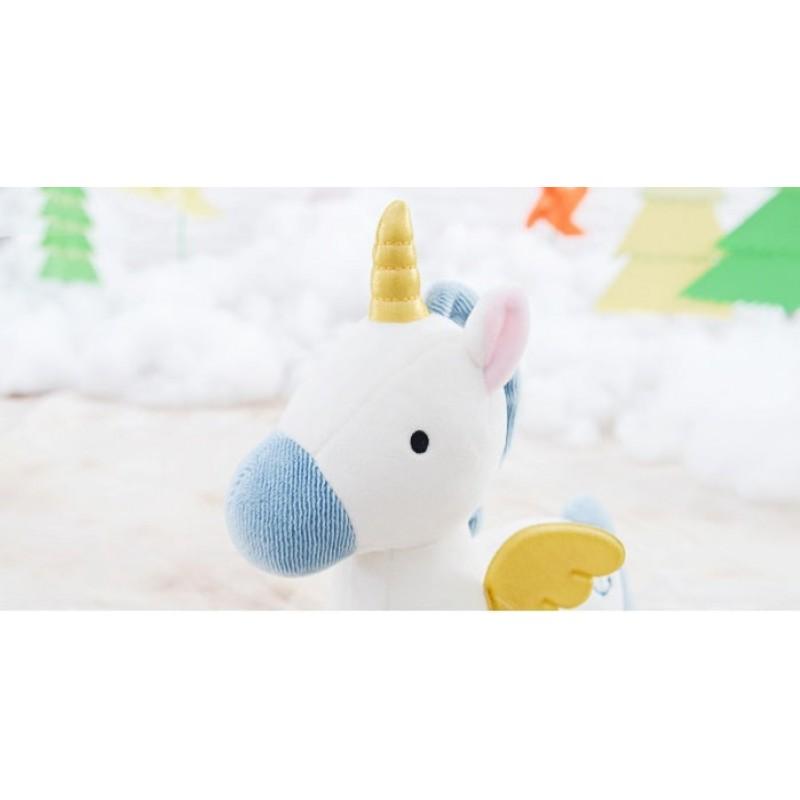 Мягкая игрушка Белый единорог, 23 см