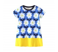 Платье для девочки Ромашки синие