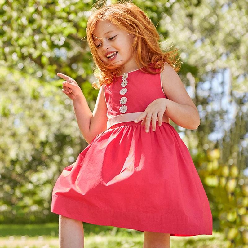 Платье для девочки на лето однотонное