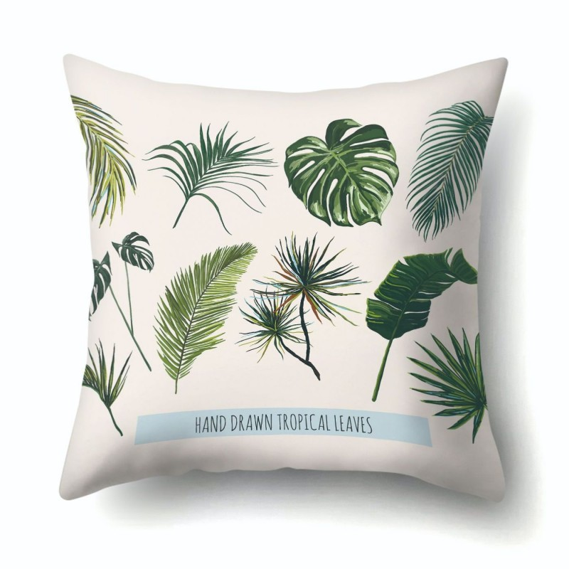 Наволочка декоративная Tropical leaves