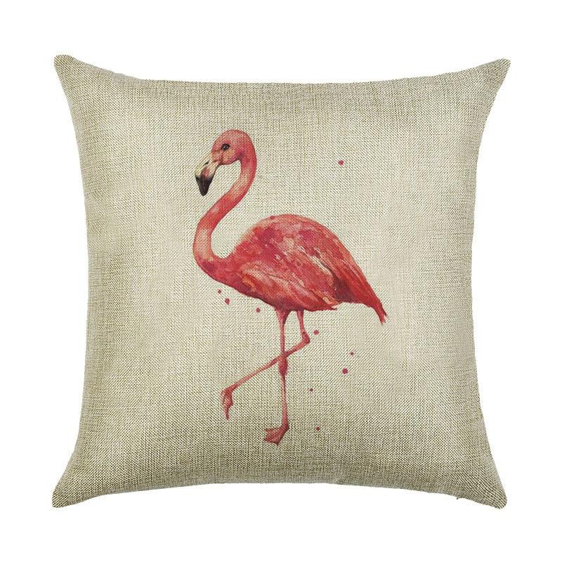 Подушка декоративная Одинокий фламинго