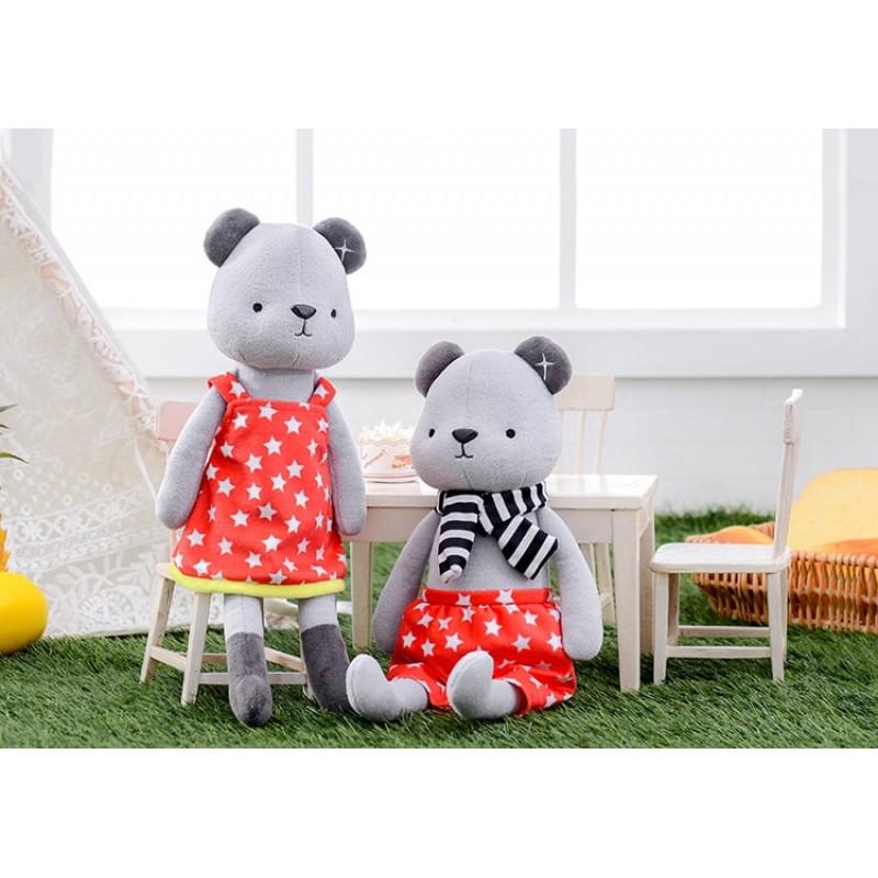Мягкая игрушка Медвежонок в красном платье, 35 см