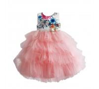 Платье для девочки Цветочные бутоны, розовый