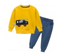 Костюм для мальчика утеплённый Крокодил-водитель, желтый
